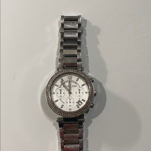 Michael Kors silver metal watch